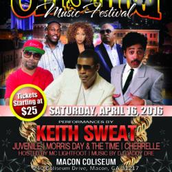 Macon Coliseum (Keith Sweat Flyer)