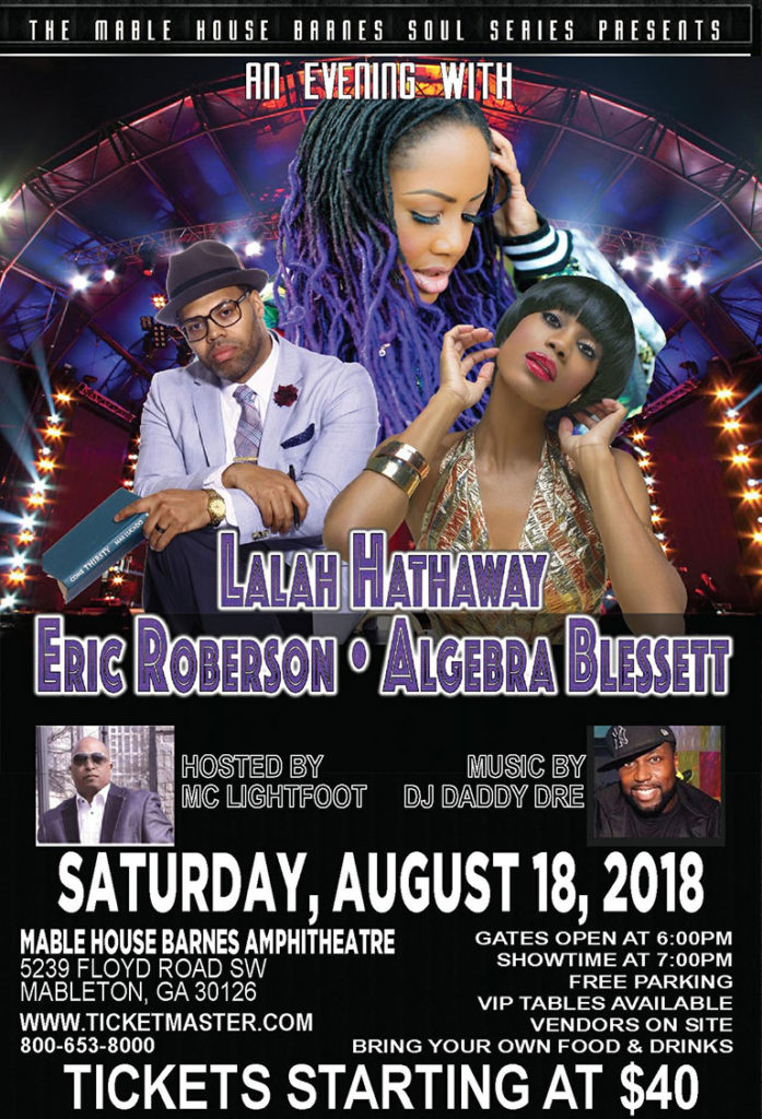 An evening with Lalah Hathaway, Eric Roberson & Algebra Blessett