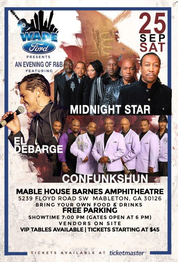 Wade Ford Concert Series: Midnight Star, Confunkshun & El Debarge
