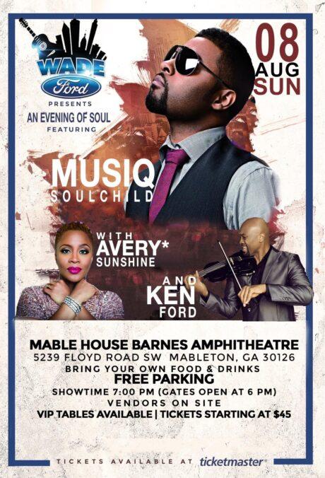 Wade Ford Concert Series: Musiq Soulchild w/Avery*Sunshine & Ken Ford