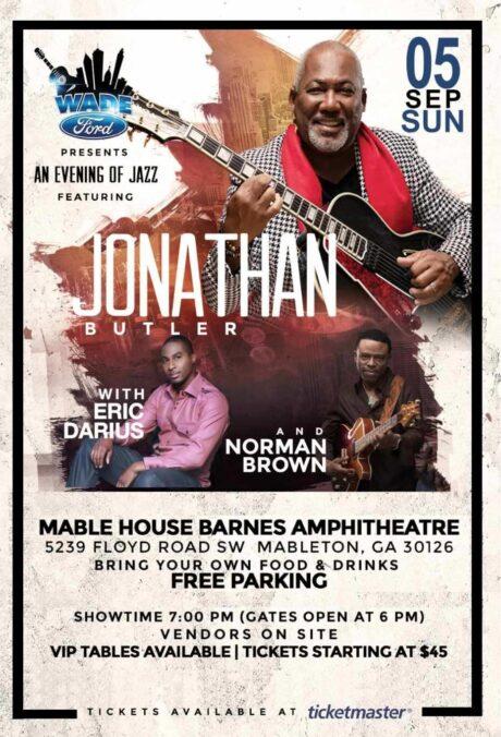 Wade Ford Concert Series: Jonathan Butler, Norman Brown & Eric Darius